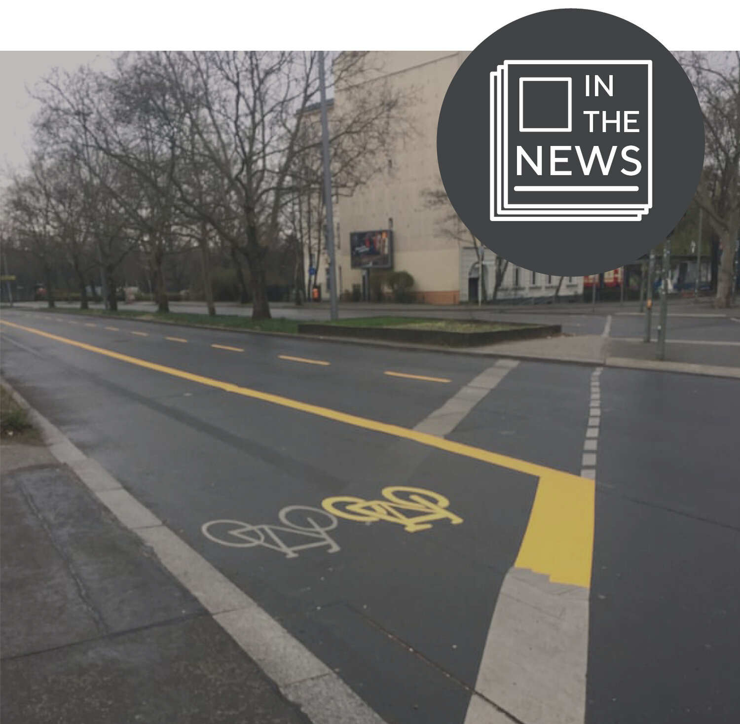 One of Berlin's extended bike lanes. Source: The Guardian