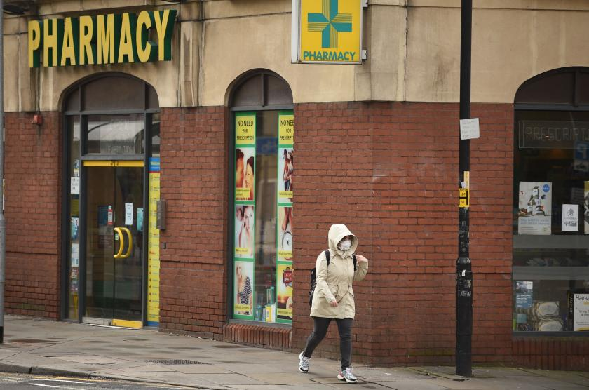 Walking in Manchester in the age of coronavirus. Image: Getty.